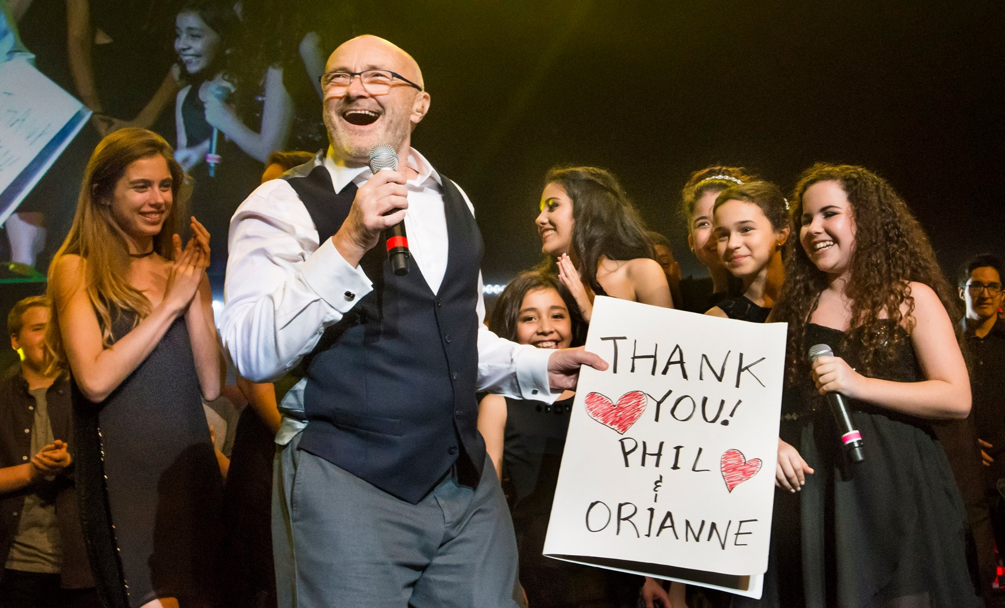 Phil Collins and 2015 Little Dreamers