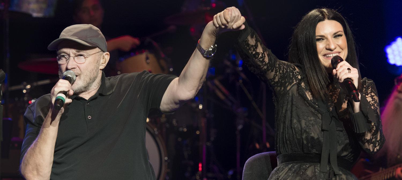 Laura Pausini and Phil Collins