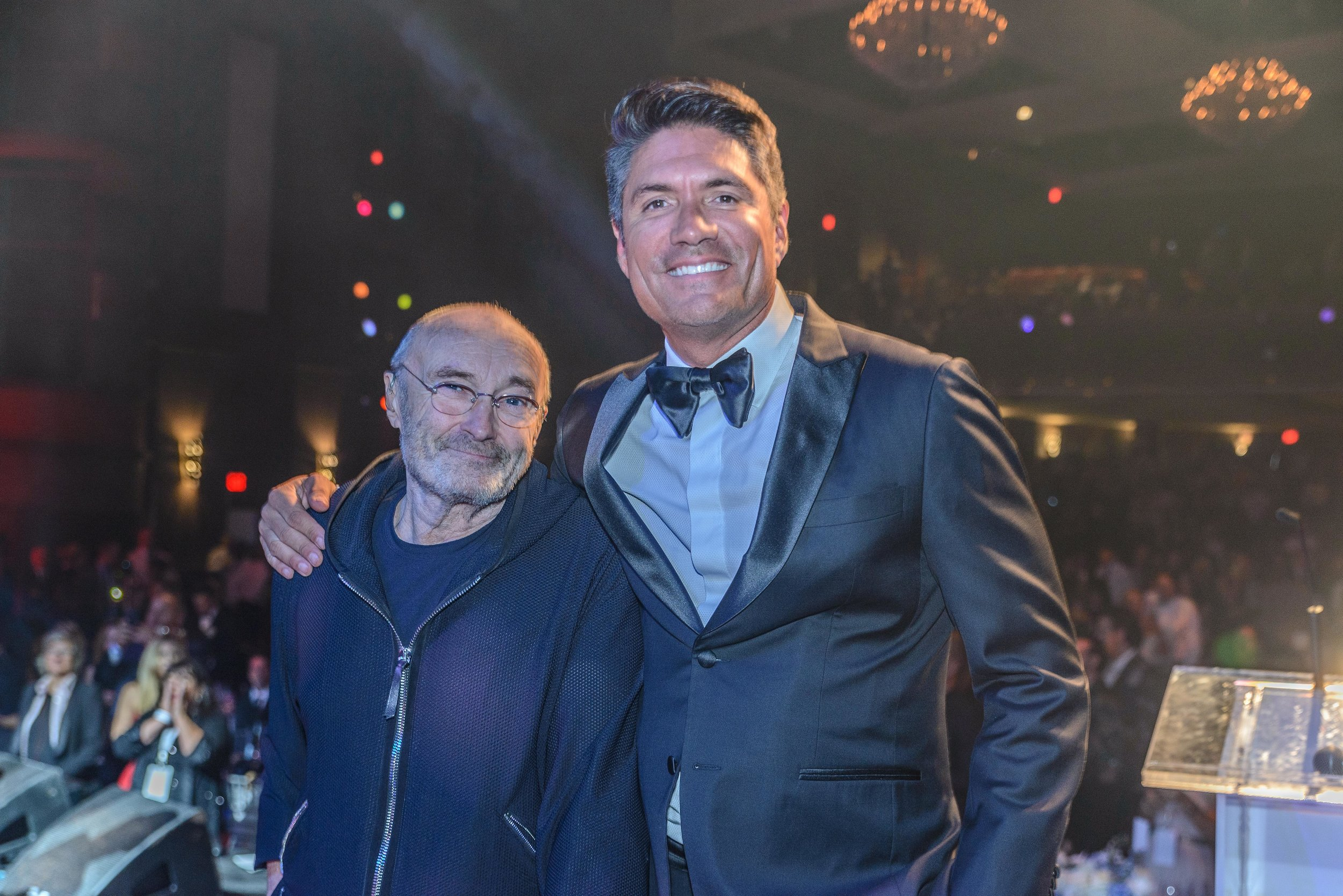 Phil Collins and Louis Aguirre