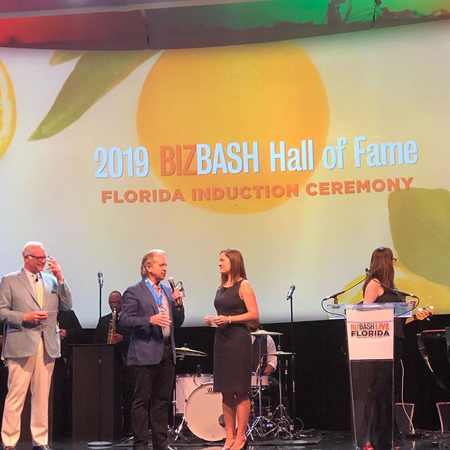 Bruce receives BIZBASH Hall of Fame Award! #actproductions , #bizbashfl