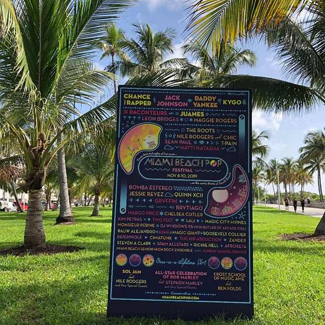 Now just on print but soon this lineup will entertain you @miamibeachpop. We'll see you November 8-10. #oceandrive #miamibeachpop #miamibeach #miamifestival #becomeone #cityofmiamibeach #chancetherapper #jackjohnson #daddyyankee #kygo #actproductions #juanes