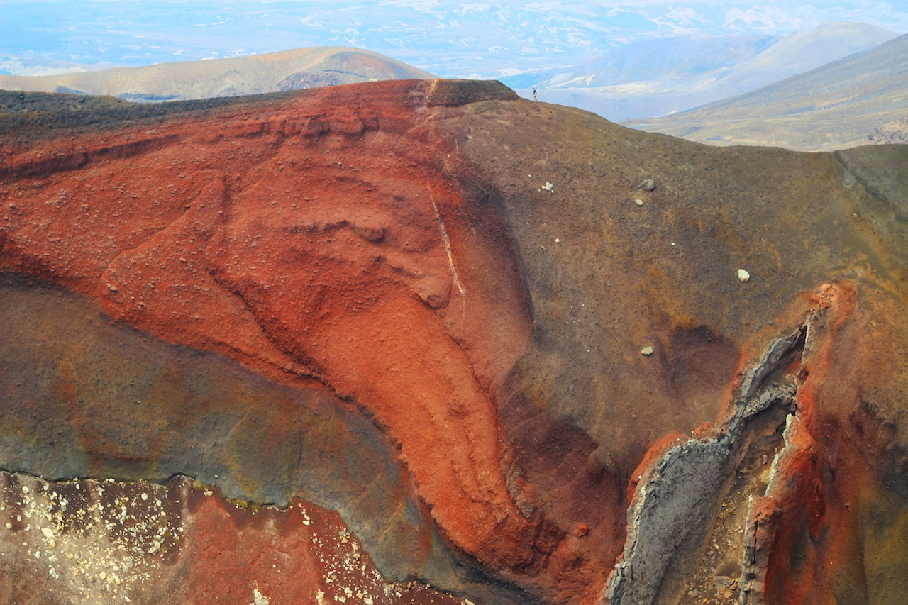 Red Crater marks the highest point of the trail
