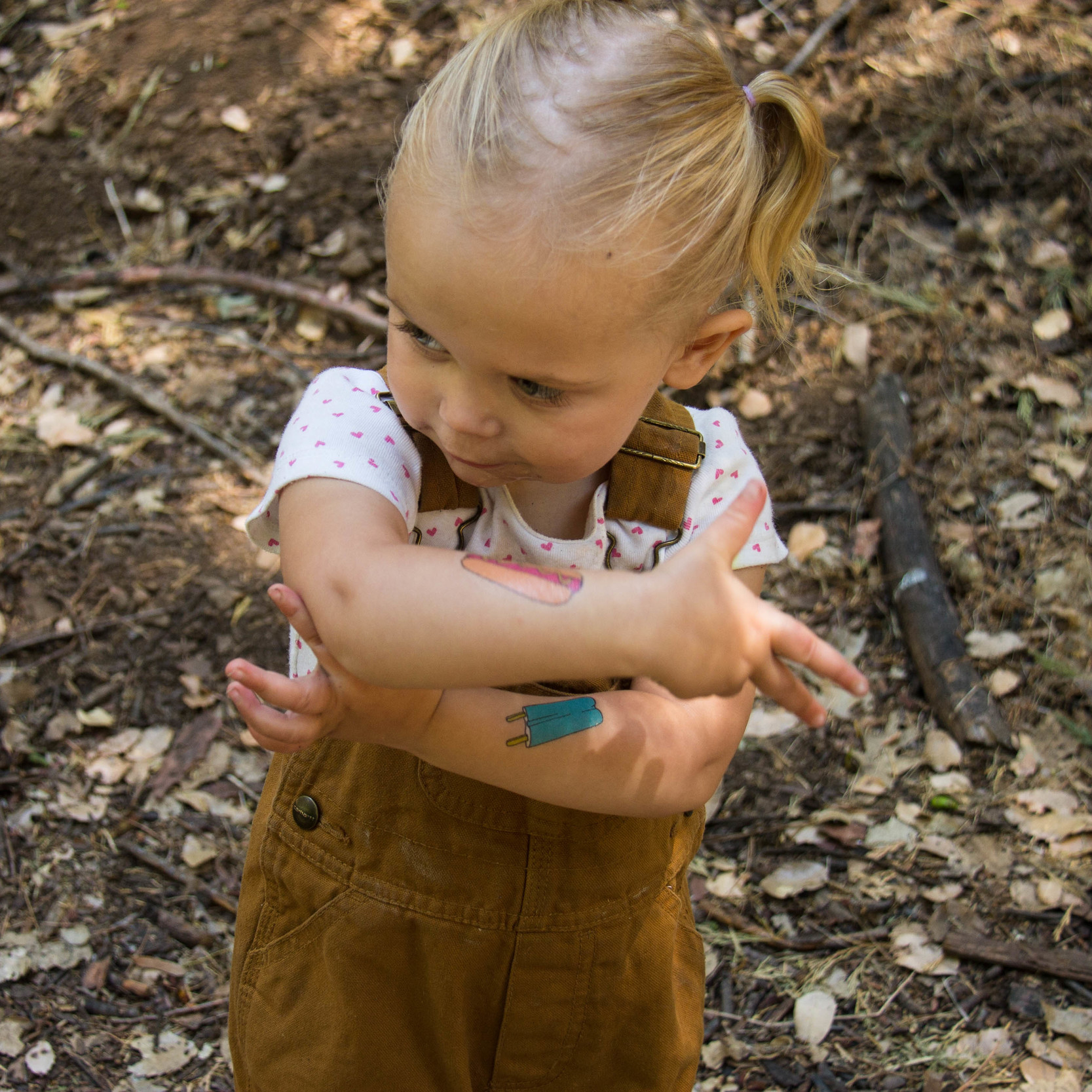 The temporary tattoos were a huge hit with my niece