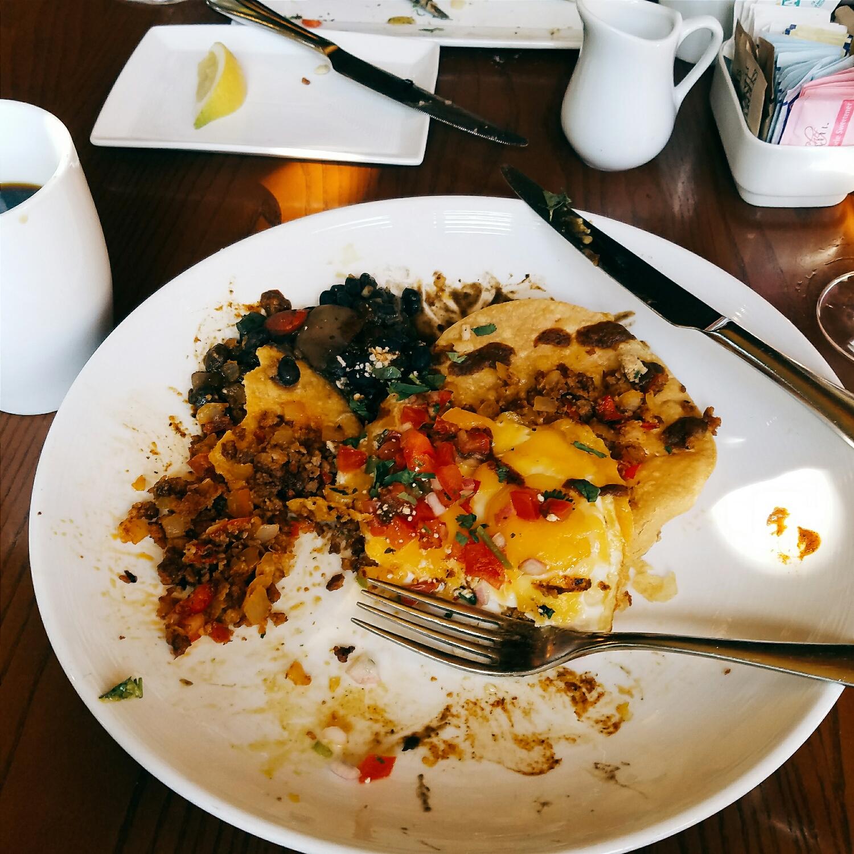 Crispy, messy, and delicious huevos rancheros