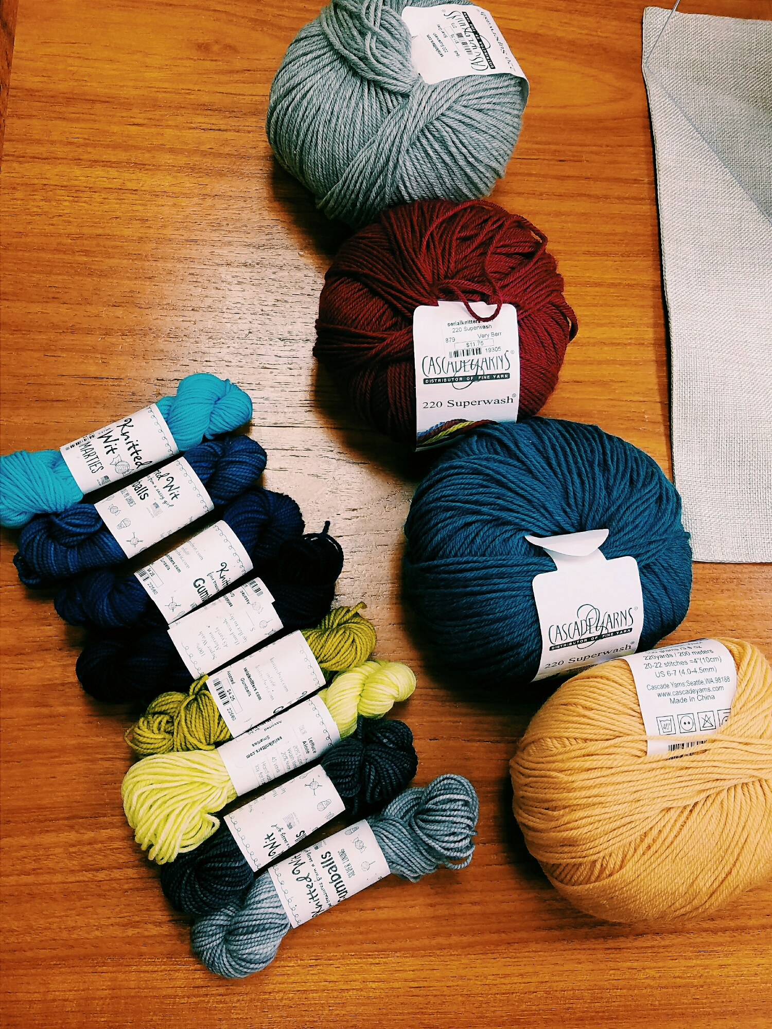 I always have a hard time deciding on colorways for new knitting projects.