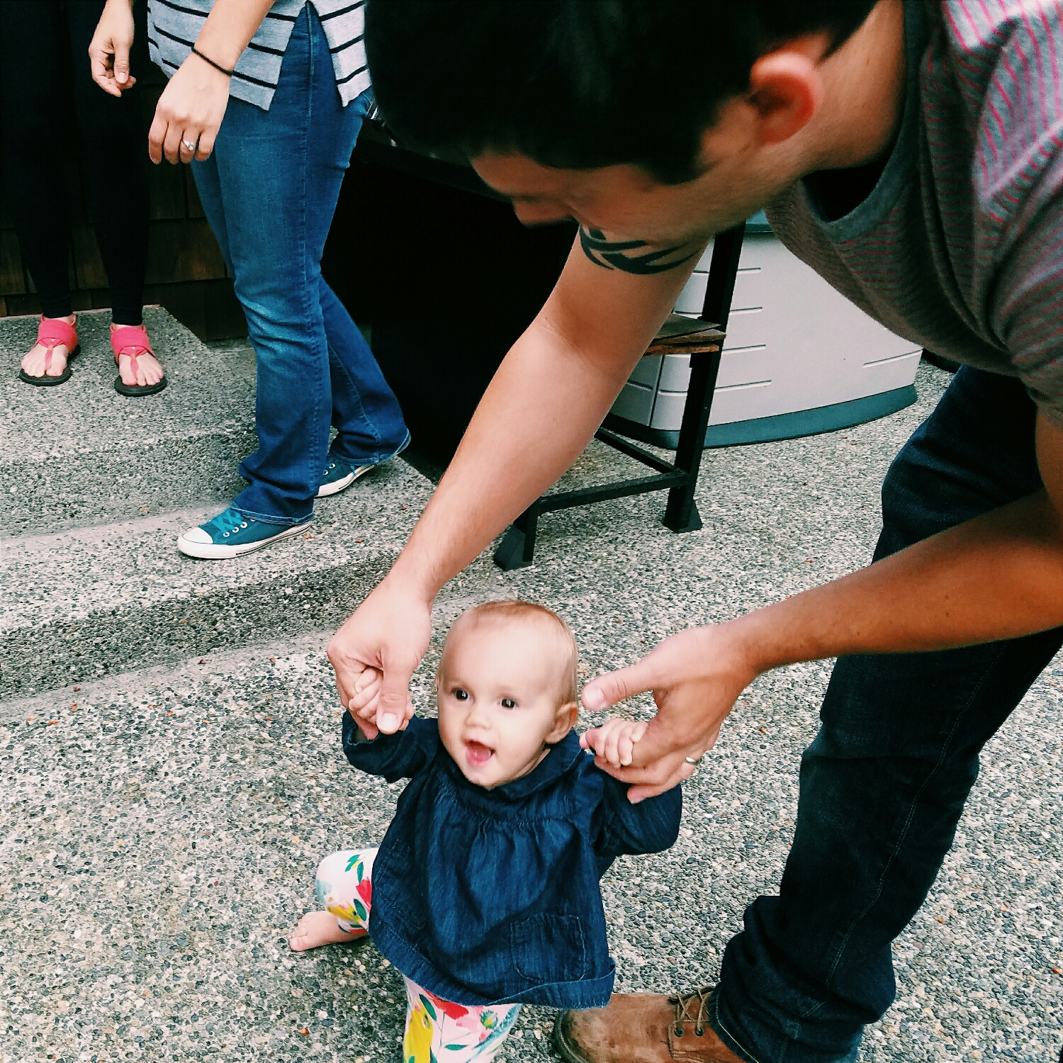 At my mom's retirement party on Friday, my adorable niece totally stole the show, as always
