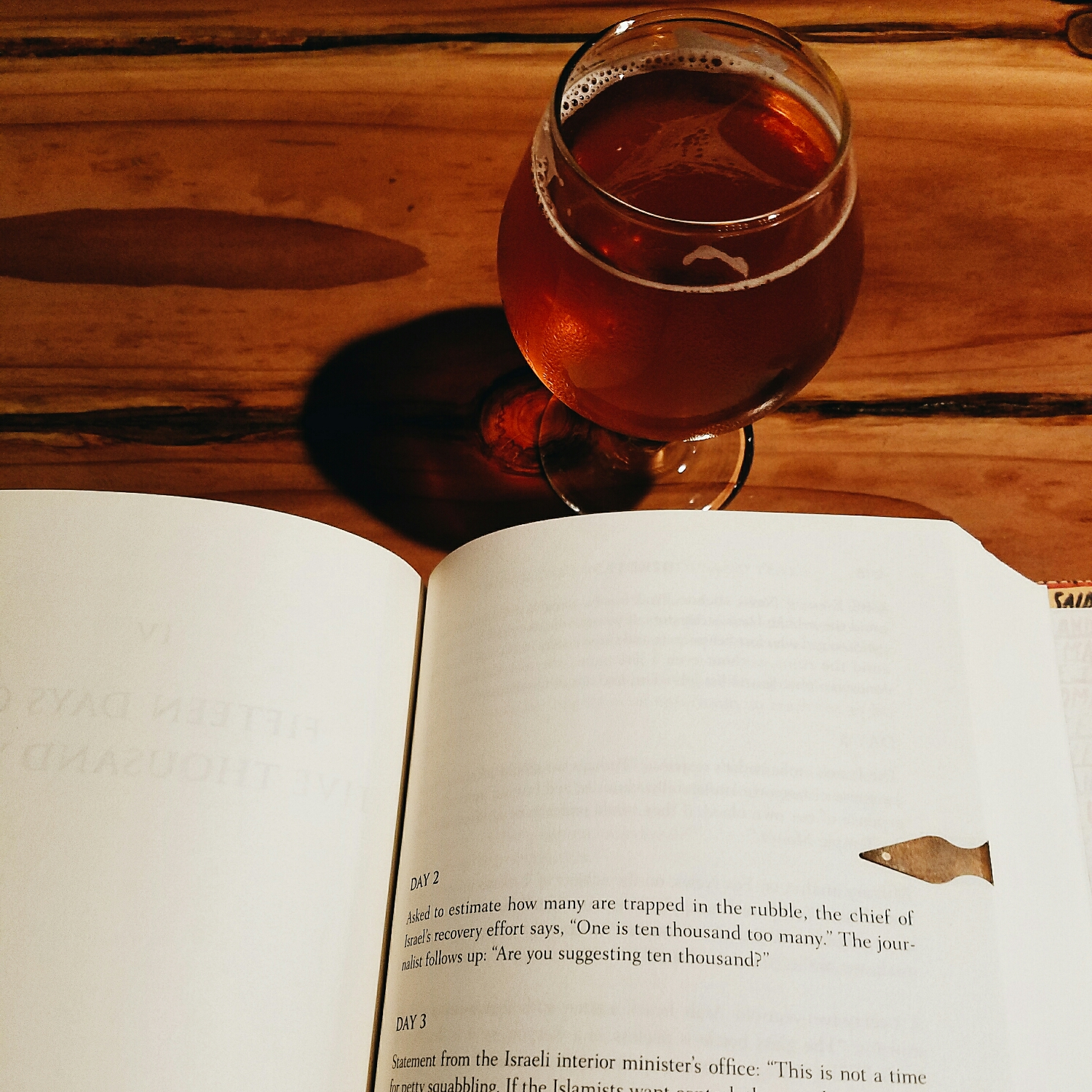 Good beer and a good book: the perfect combo for a rainy night!