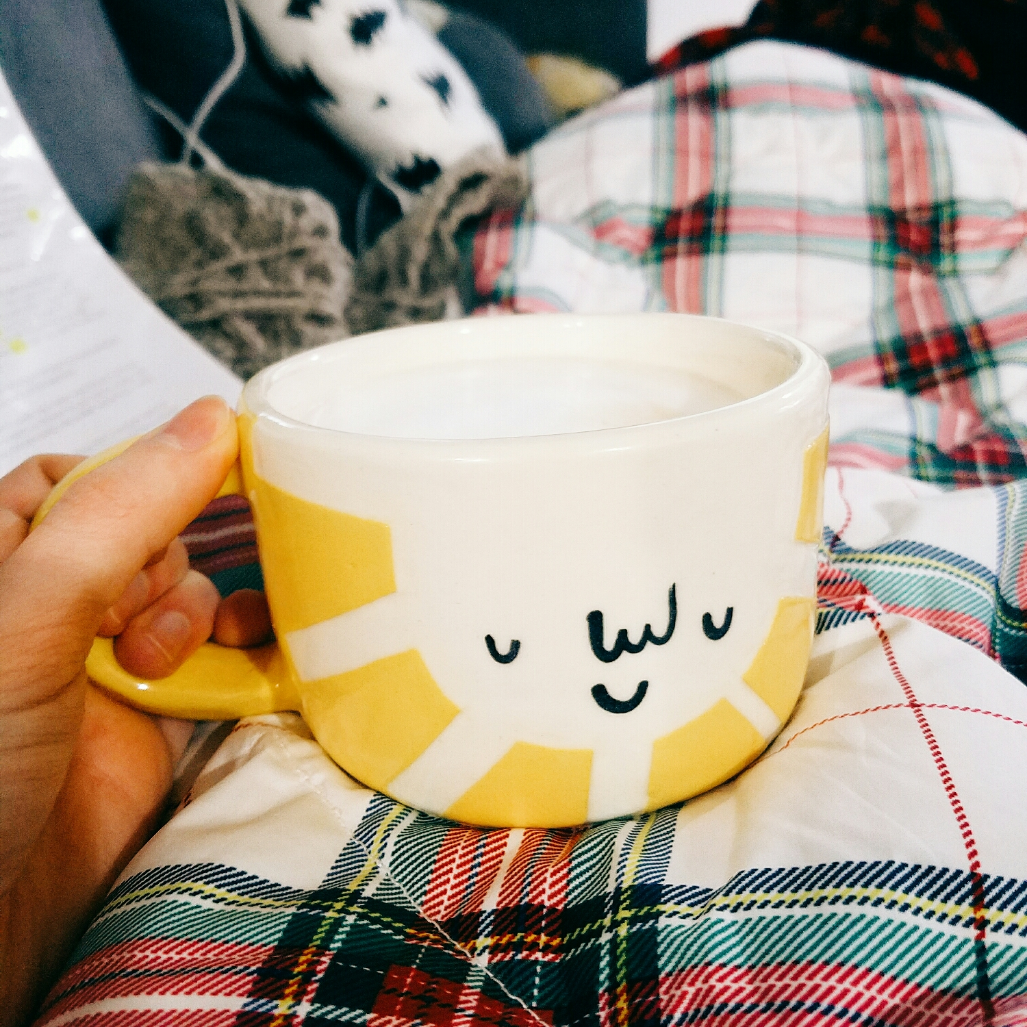 lazy morning latte in my new favorite mug