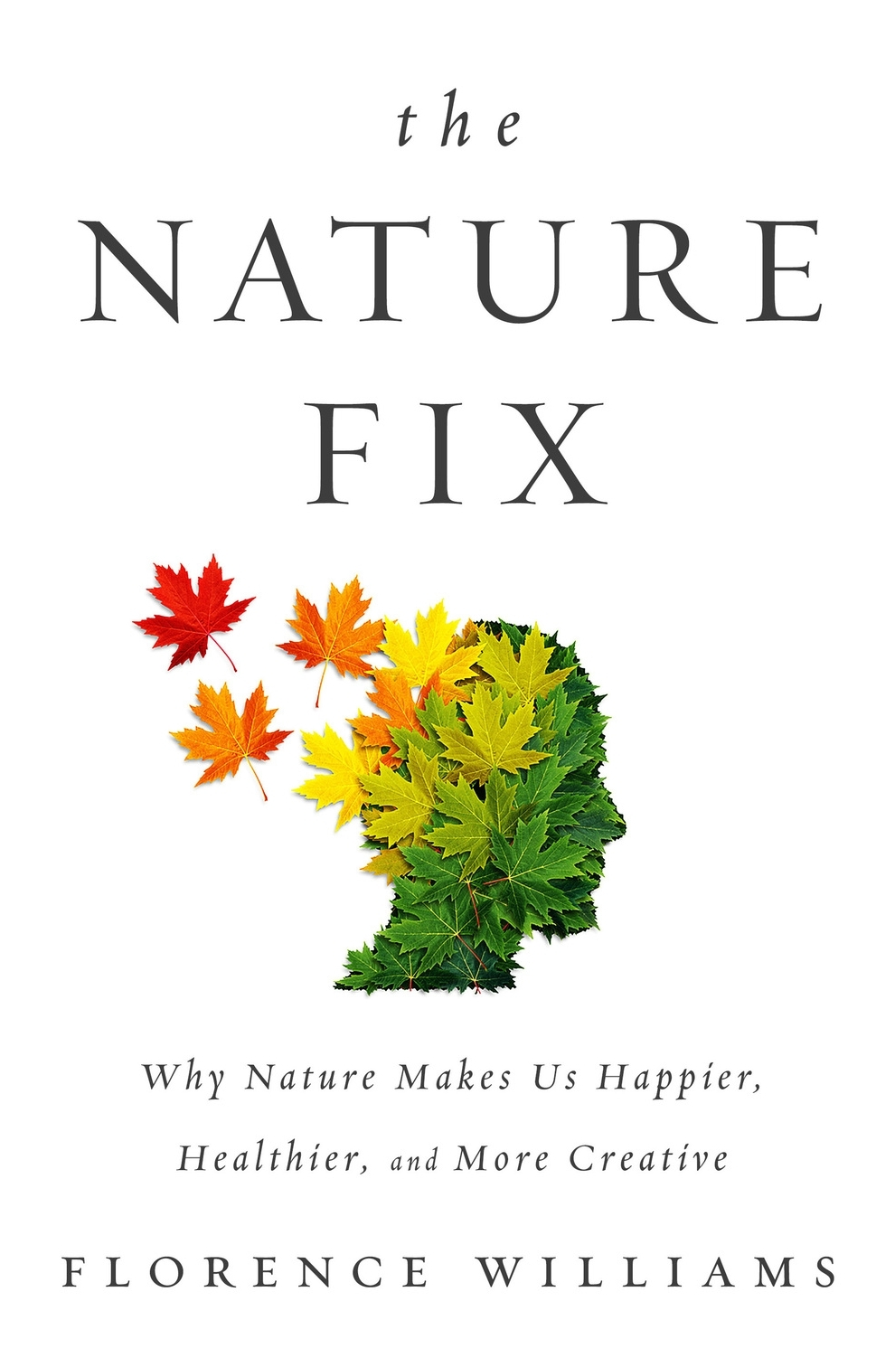 "The Nature Fix by Florence Williams - For centuries, poets and philosophers extolled the benefits of a walk in the woods: Beethoven drew inspiration from rocks and trees; Wordsworth composed while tromping over the heath; and Nikola Tesla conceived the electric motor while visiting a park. Intrigued by our storied renewal in the natural world, Florence Williams set out to uncover the science behind nature's positive effects on the brain.In this informative and entertaining account, Williams investigates cutting-edge research as she travels to fragrant cypress forests in Korea to meet the rangers who administer ""forest healing programs,"" to the green hills of Scotland and its ""ecotherapeutic"" approach to caring for the mentally ill, to a river trip in Idaho with Iraqi vets suffering from PTSD, to the West Virginia mountains where she discovers how being outside helps children with ADHD. The Nature Fix demonstrates that our connection to nature is much more important to our cognition than we think and that even small amounts of exposure to the living world can improve our creativity and enhance our mood. In prose that is incisive, witty, and urgent, Williams shows how time in nature is not a luxury but is in fact essential to our humanity. As our modern lives shift dramatically indoors, these ideas—and the answers they yield—are more urgent than ever. (From Goodreads)"