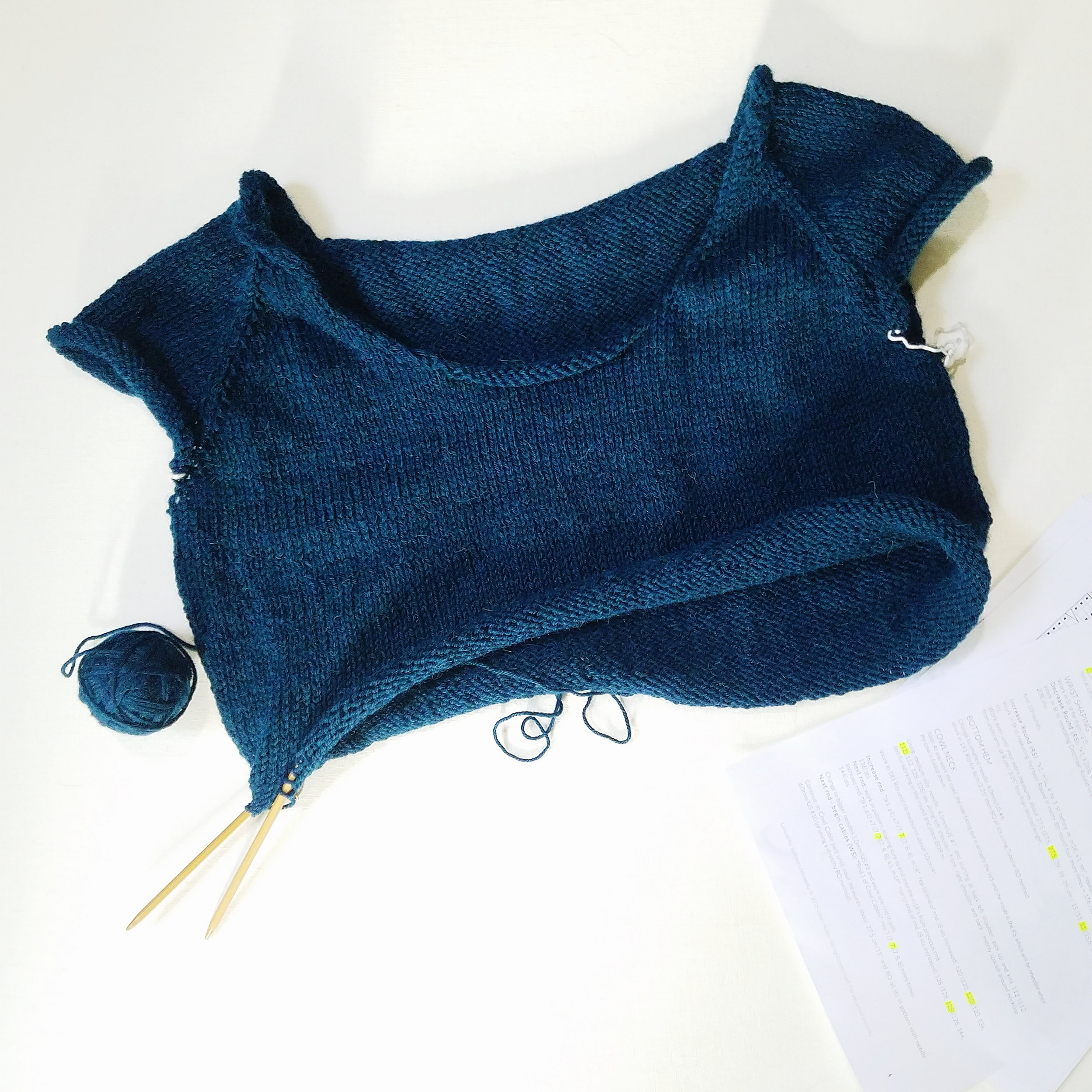 Summer is the best time to knit a wool sweater, right?