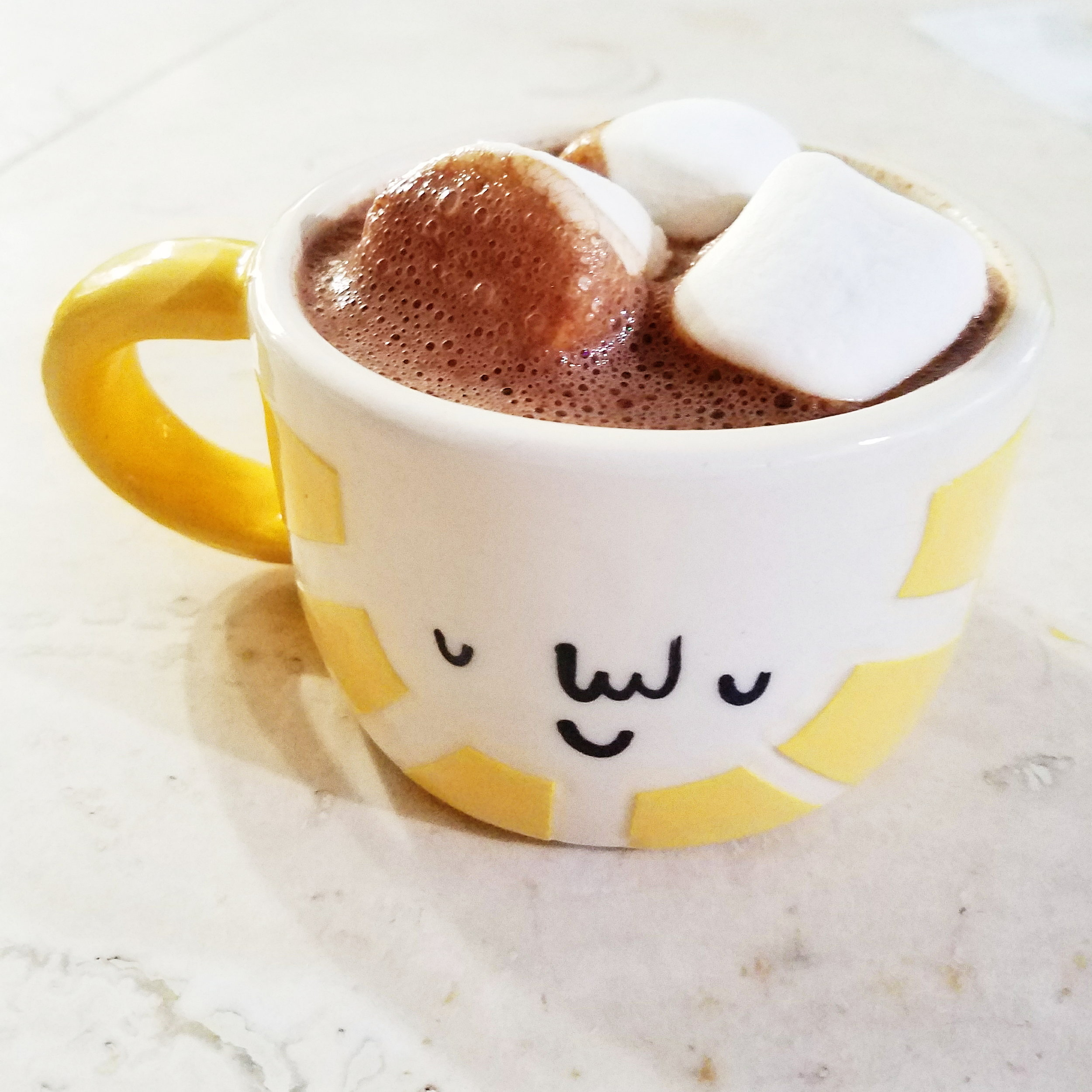 Nothing like a mug of hot chocolate - including a liberal application of marshmallows - to warm you up after a rainy hike!