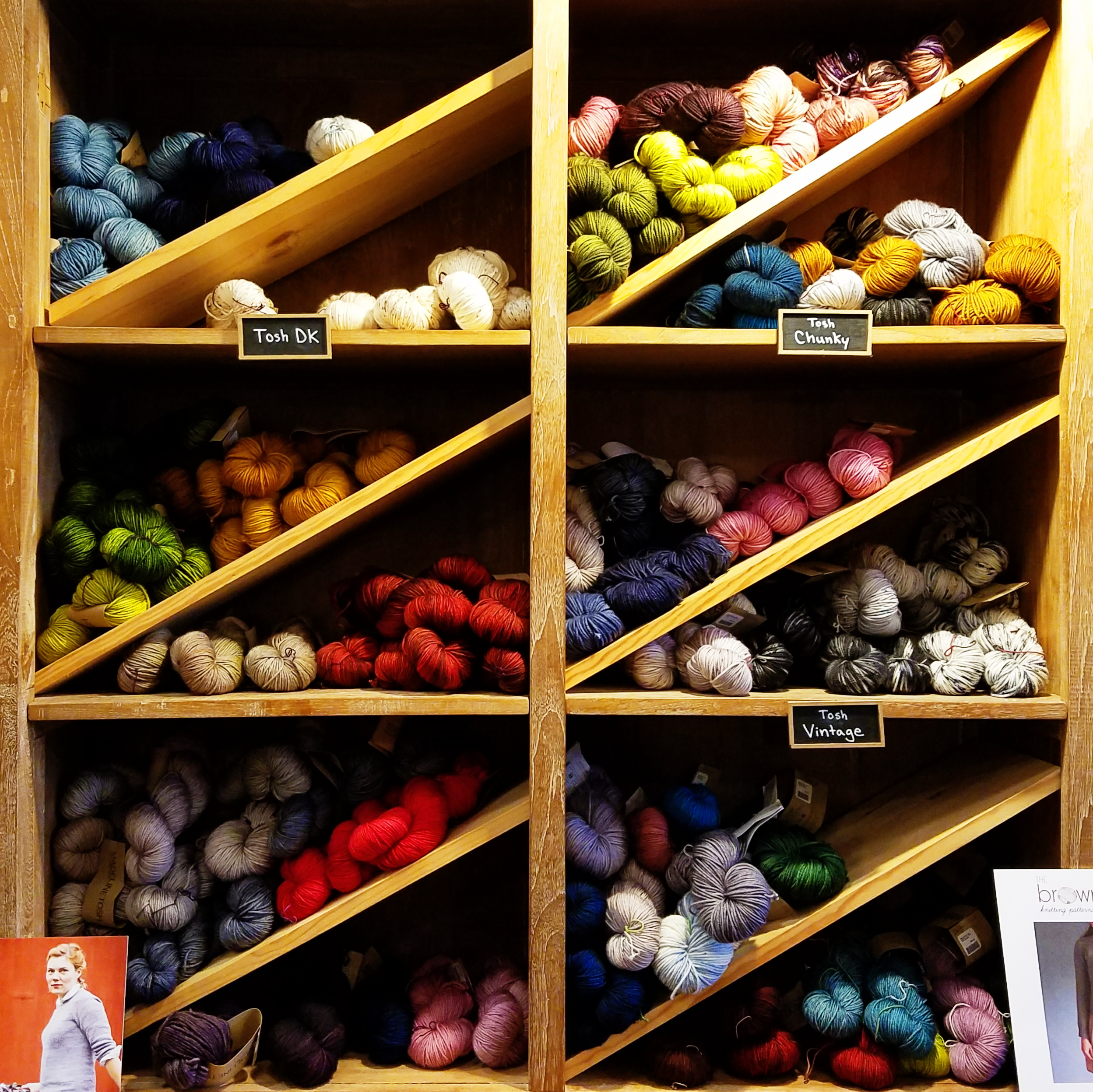 Stocking up on yarn for last minute Christmas projects