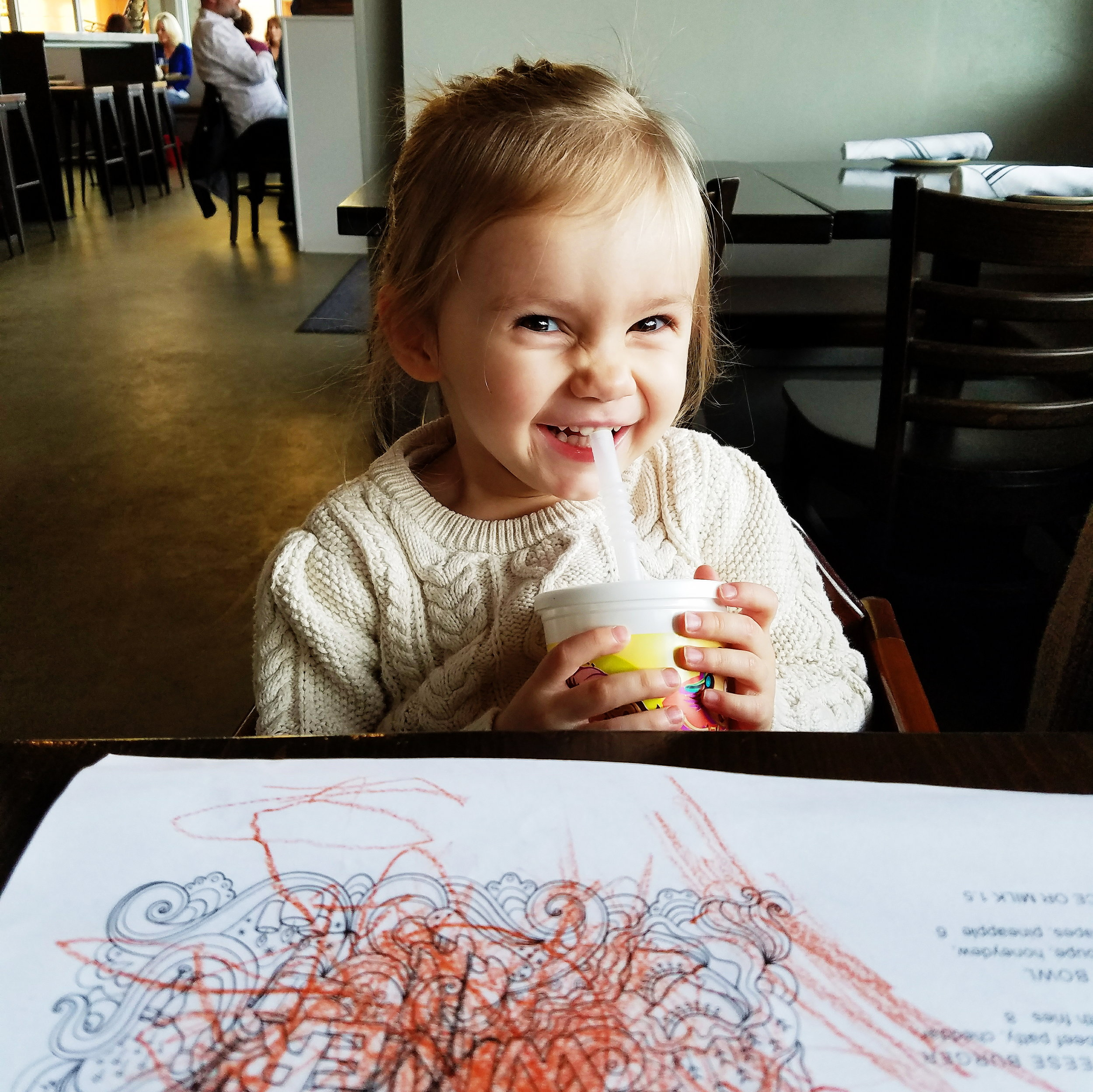 I love sneaking out for a long lunch with this cheeky little girl!