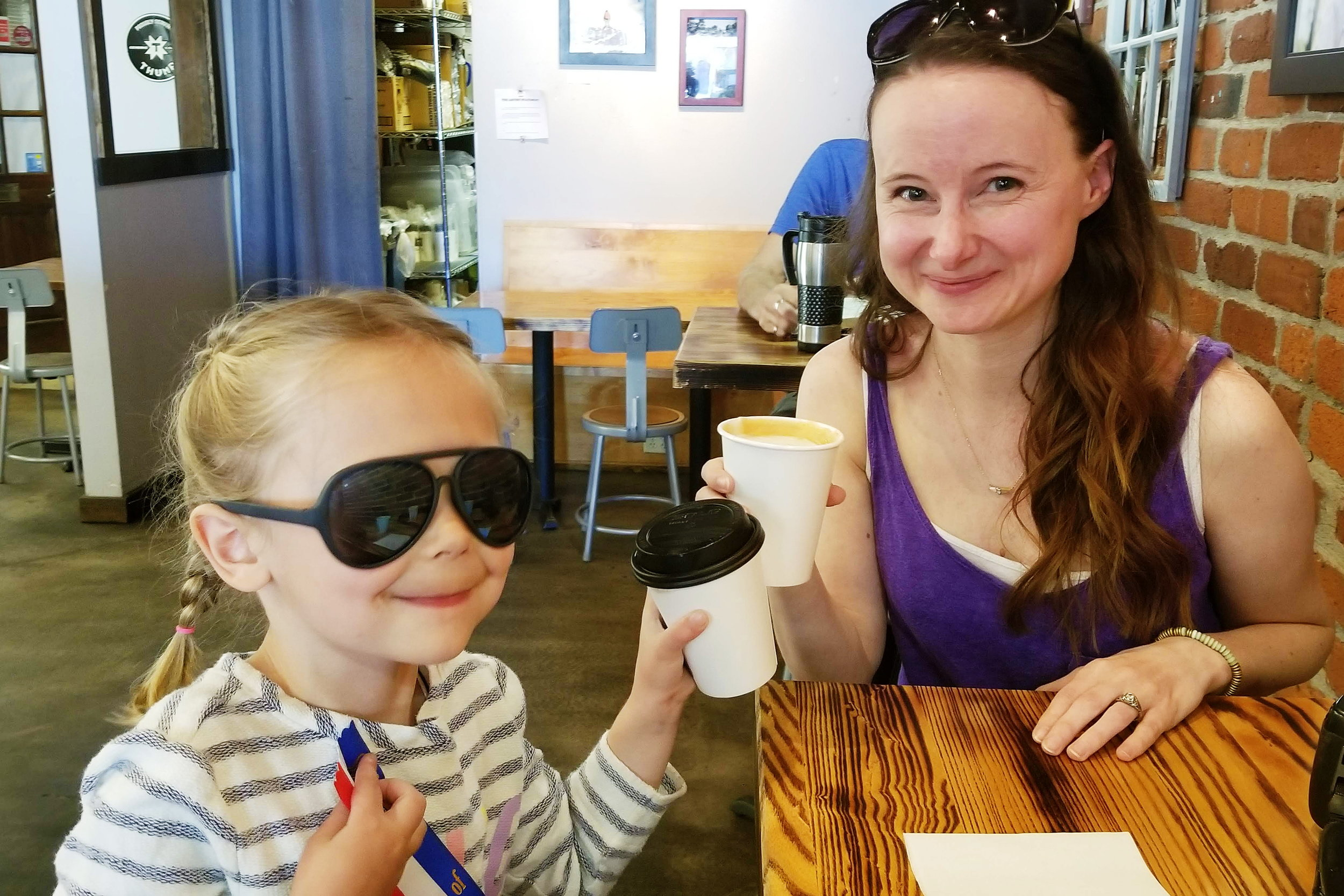 Coffee & cocoa with my niece who is growing up  way too fast!