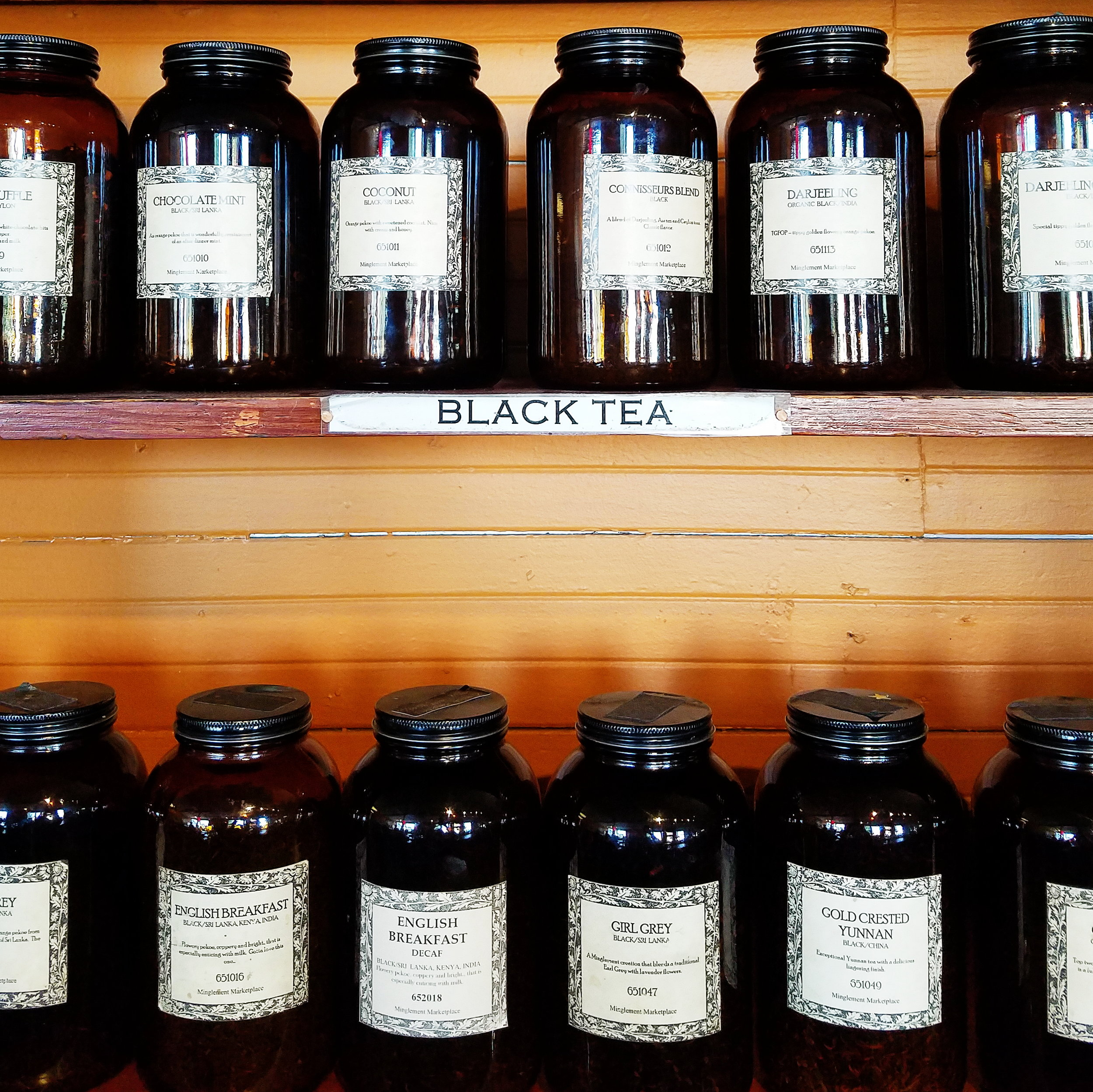 I was surprised to find the Vashon Island Coffee Roasterie also had an impressive stock of loose leaf teas!