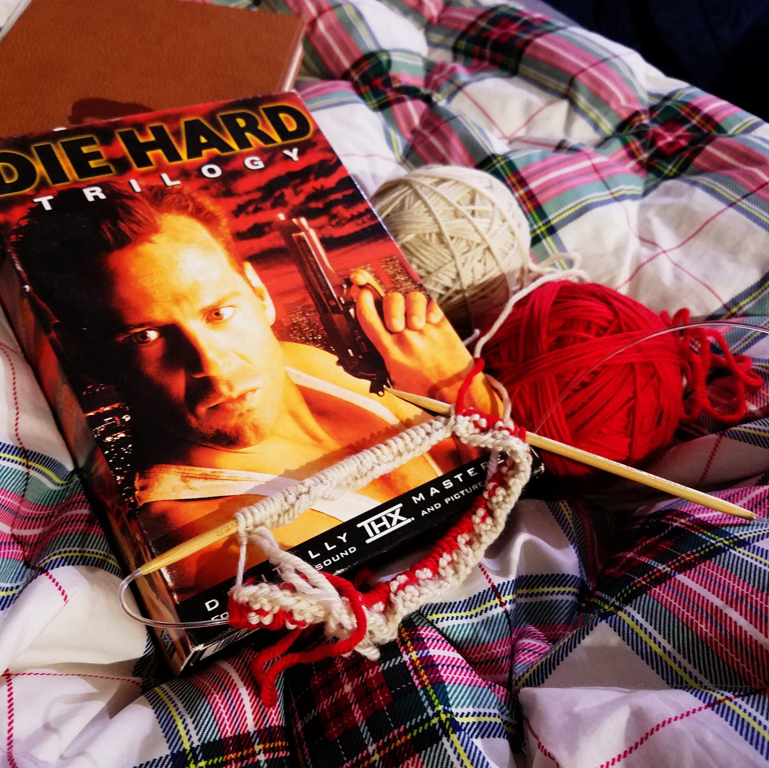 Tis the season - for Die Hard & Christmas knitting!