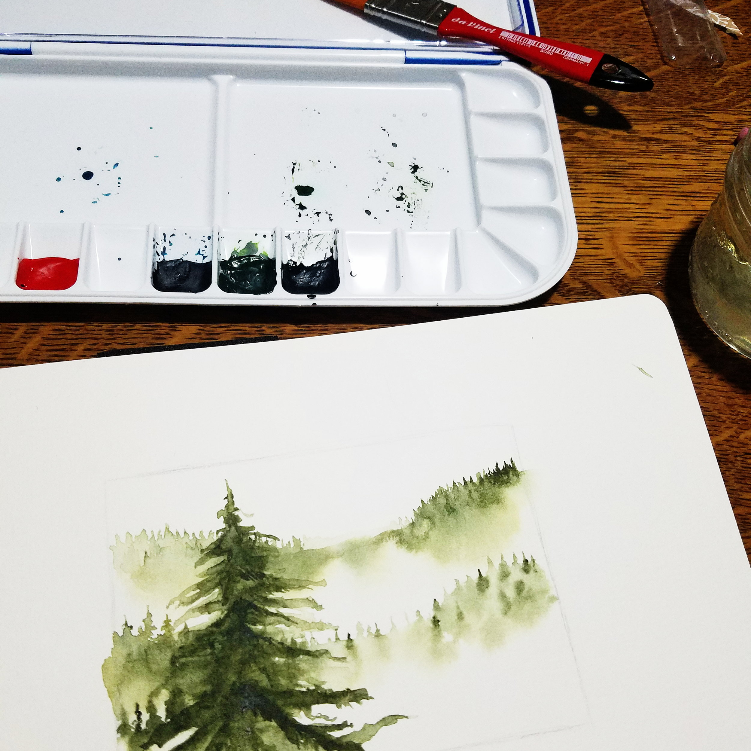 Finally playing with watercolor after Salt Creek earlier in the month!