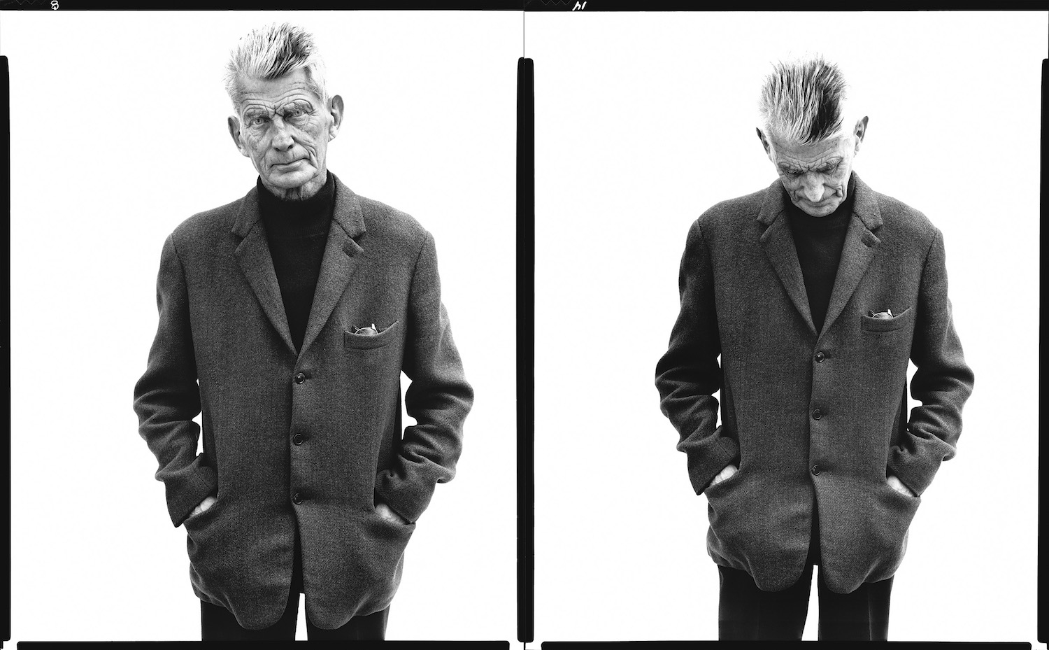 Samuel Beckett, writer, Paris, France, April 13, 1979