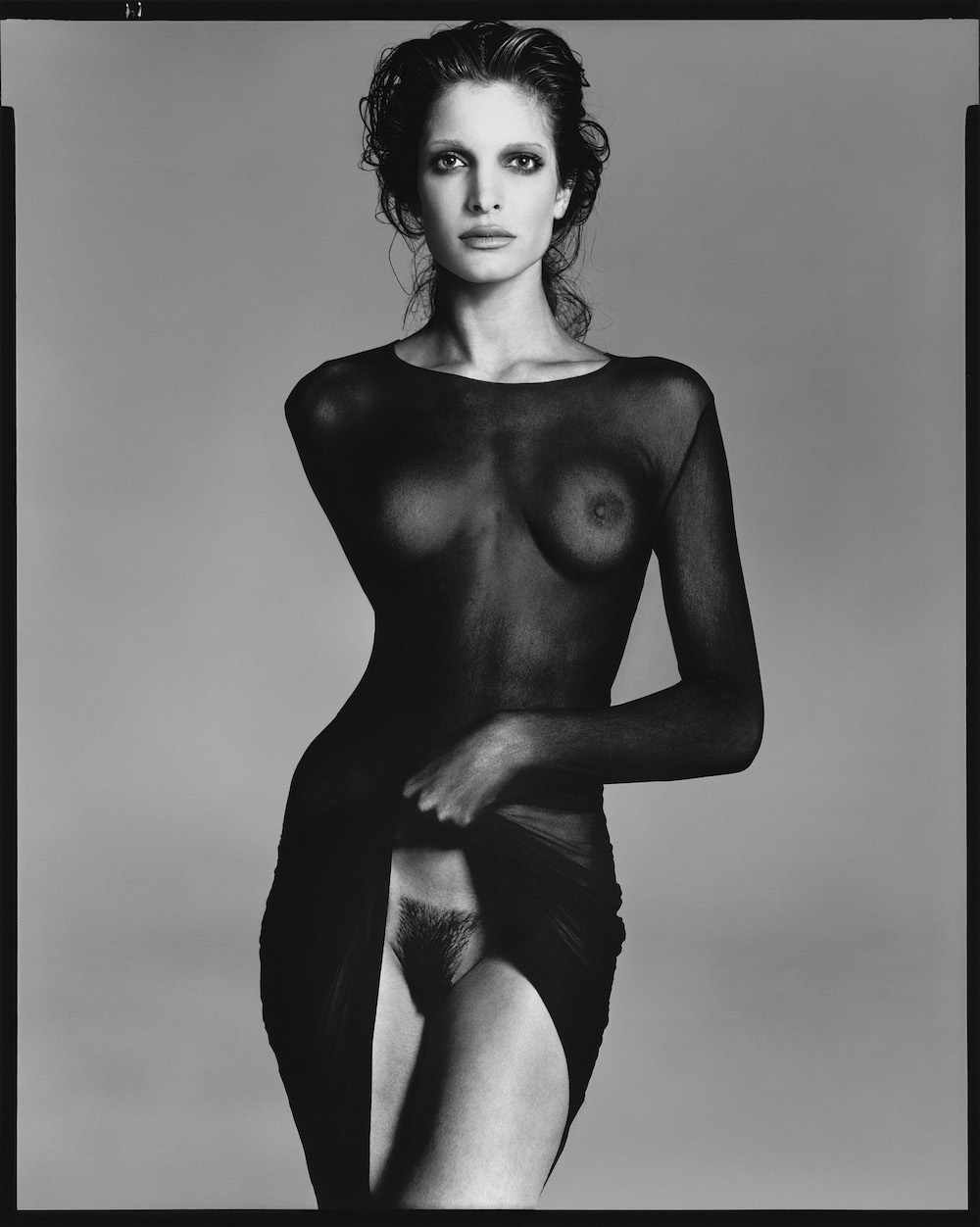 Stephanie Seymour, dress by Comme des Garçons, New York, May 10, 1992
