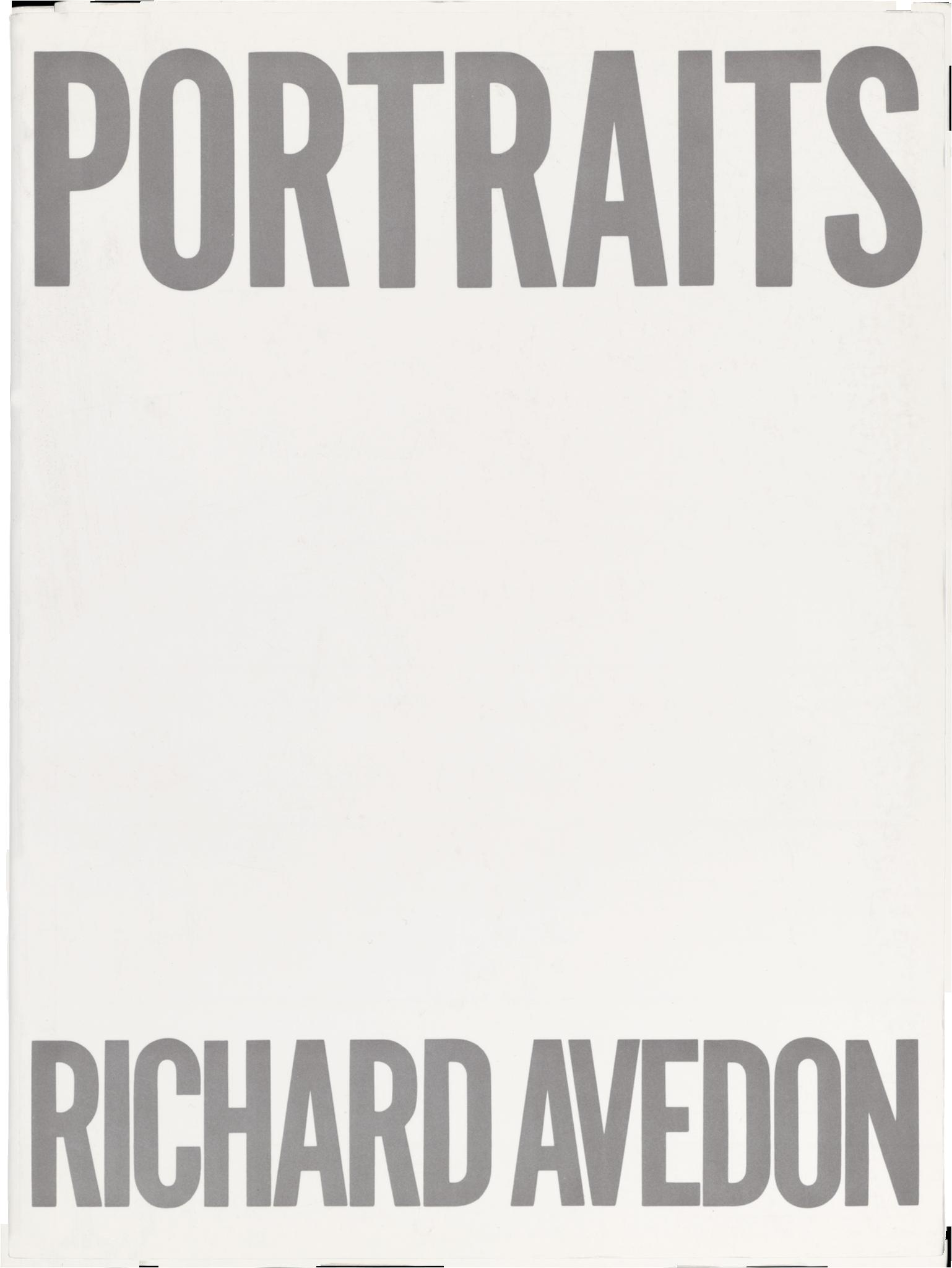 Portraits   (1976), essay by Harold Rosenberg