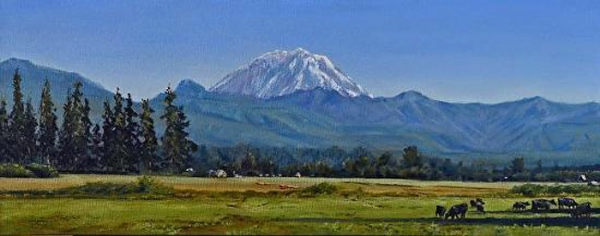 """Mt. Rainier from Enumclaw - Washington"""