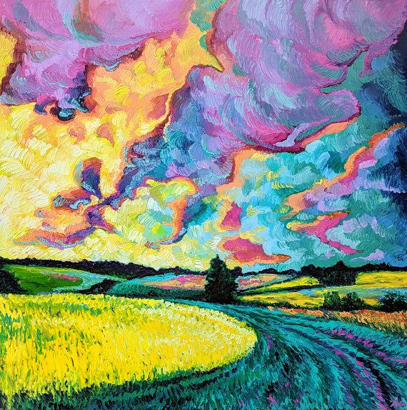 """""""Day Dream"""" - 36"""" x 48"""" - Oil on Wood Panel - Handmade Framed - $2175.00"""