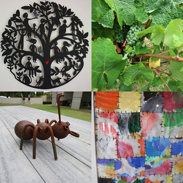 Still in the vineyards, but with some local art and a small concession to the 14th