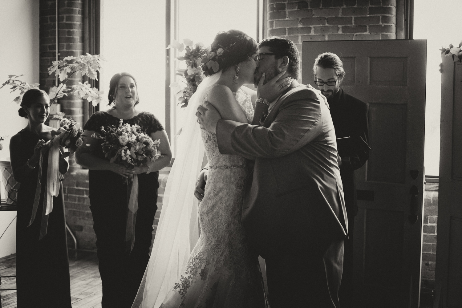 ceremony mill 1 at open square wedding jp langlands photography