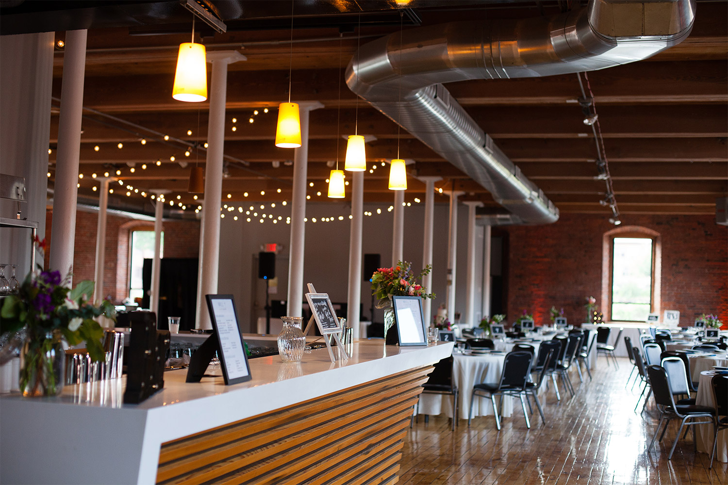 wedding reception room mill 1 at open square jp langlands photography