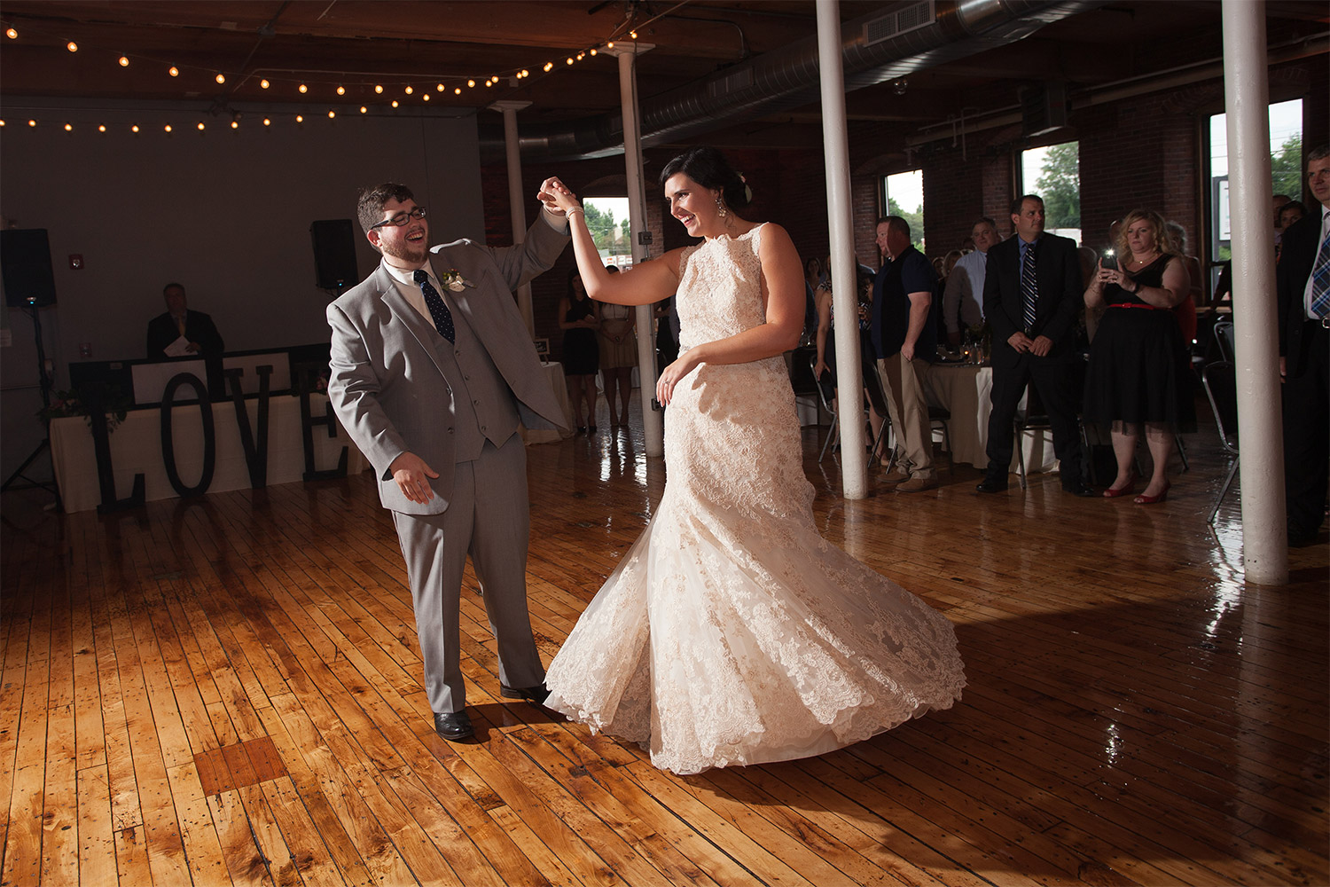 first dance mill 1 at open square wedding jp langlands photography