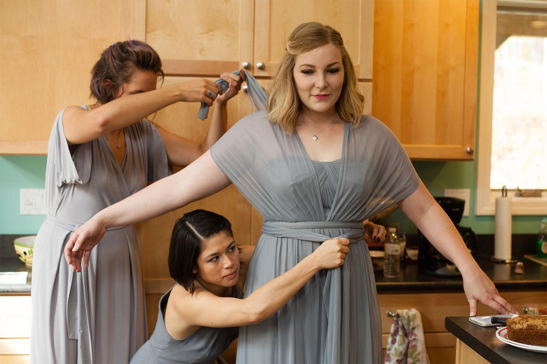 bridesmaids jacob's pillow wedding