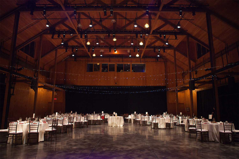 reception hall jacob's pillow wedding jp langlands photography