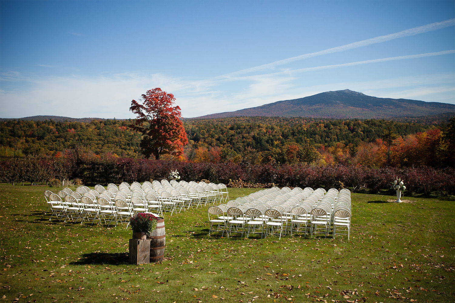 Fall farm wedding ceremony site Monadnock Berries Try NH