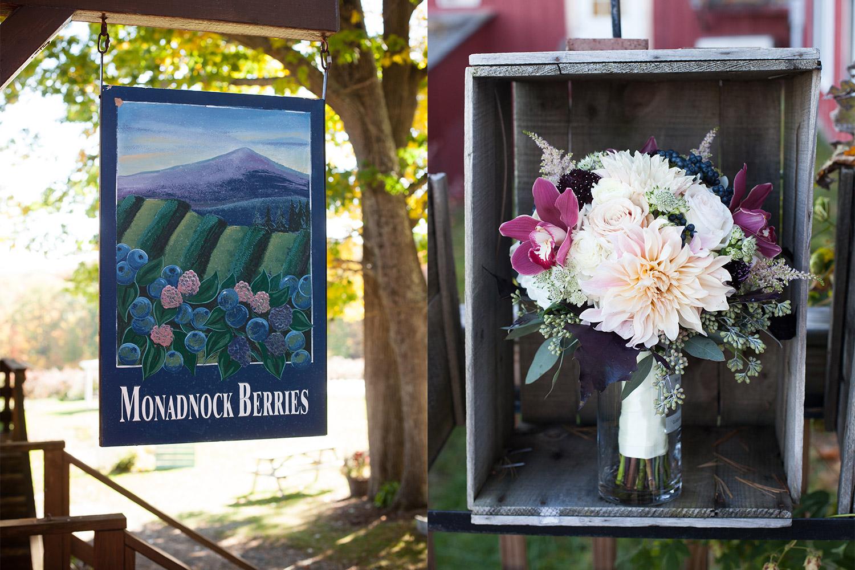 fall wedding at Monadnock Berries Troy NH