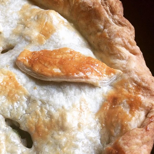 Last chicken pot pie of the season.#puffpastry #grillseason