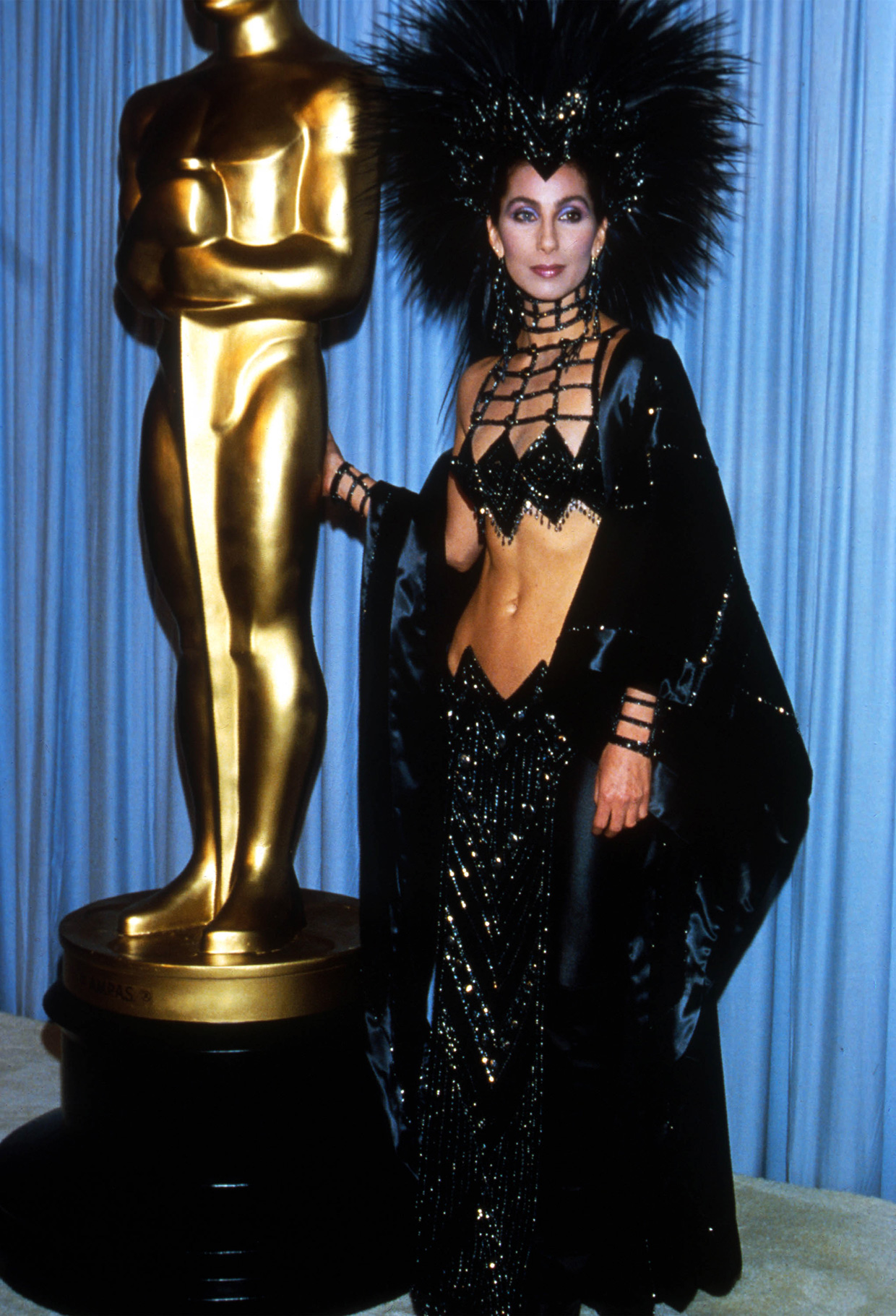 Julian Wasser/Liaison  Cher attends the Academy Awards March 24, 1986 in Los Angeles.