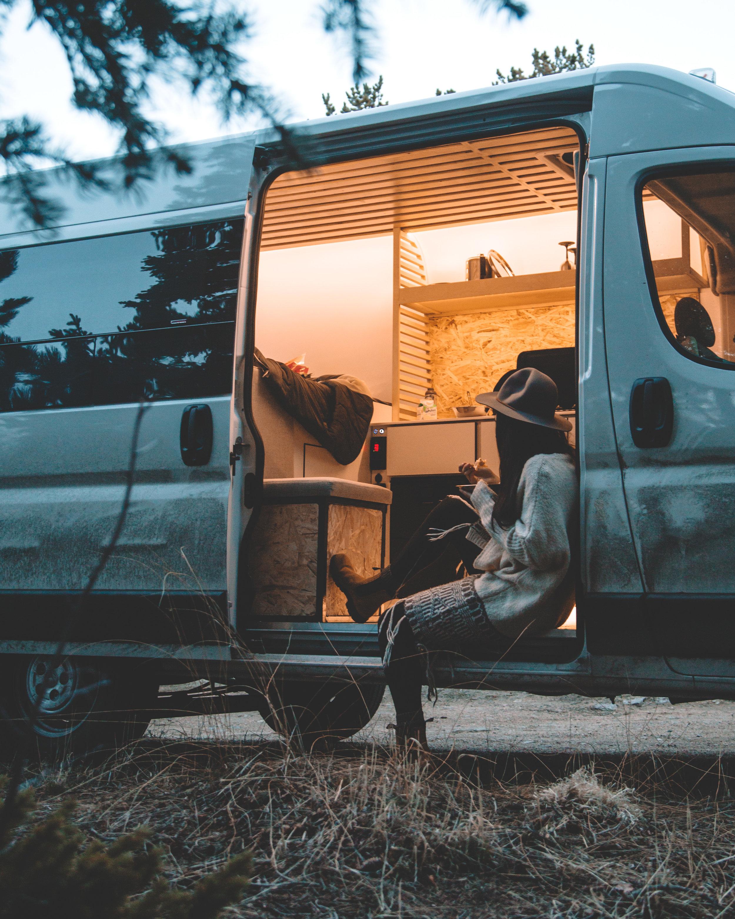 Hanging in the Biggie Campervan