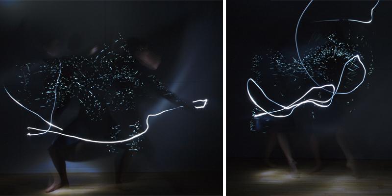 Light Study: Motion Sensitive Dress, 2013