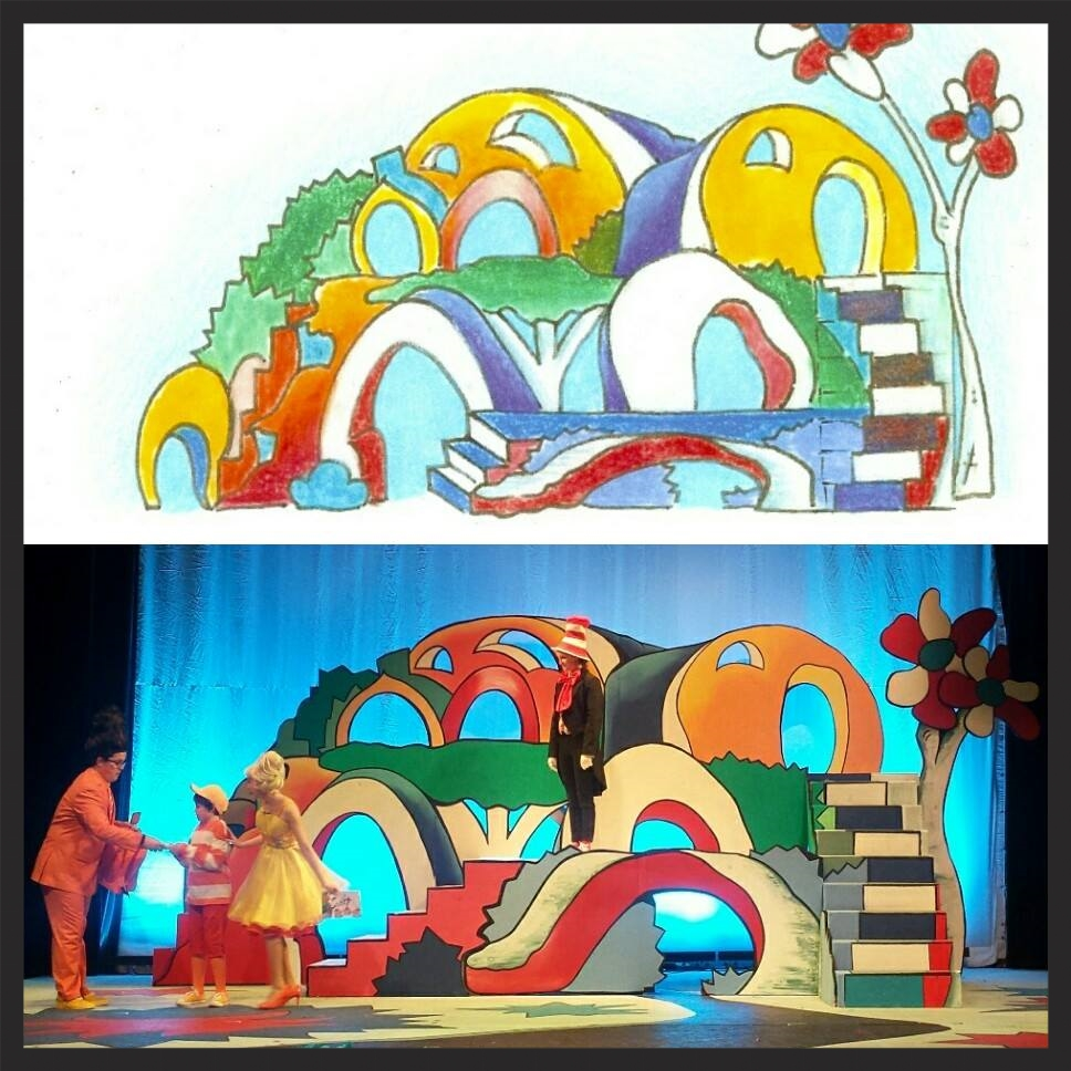scenic design and painting - Seussical the Musical - The Community House