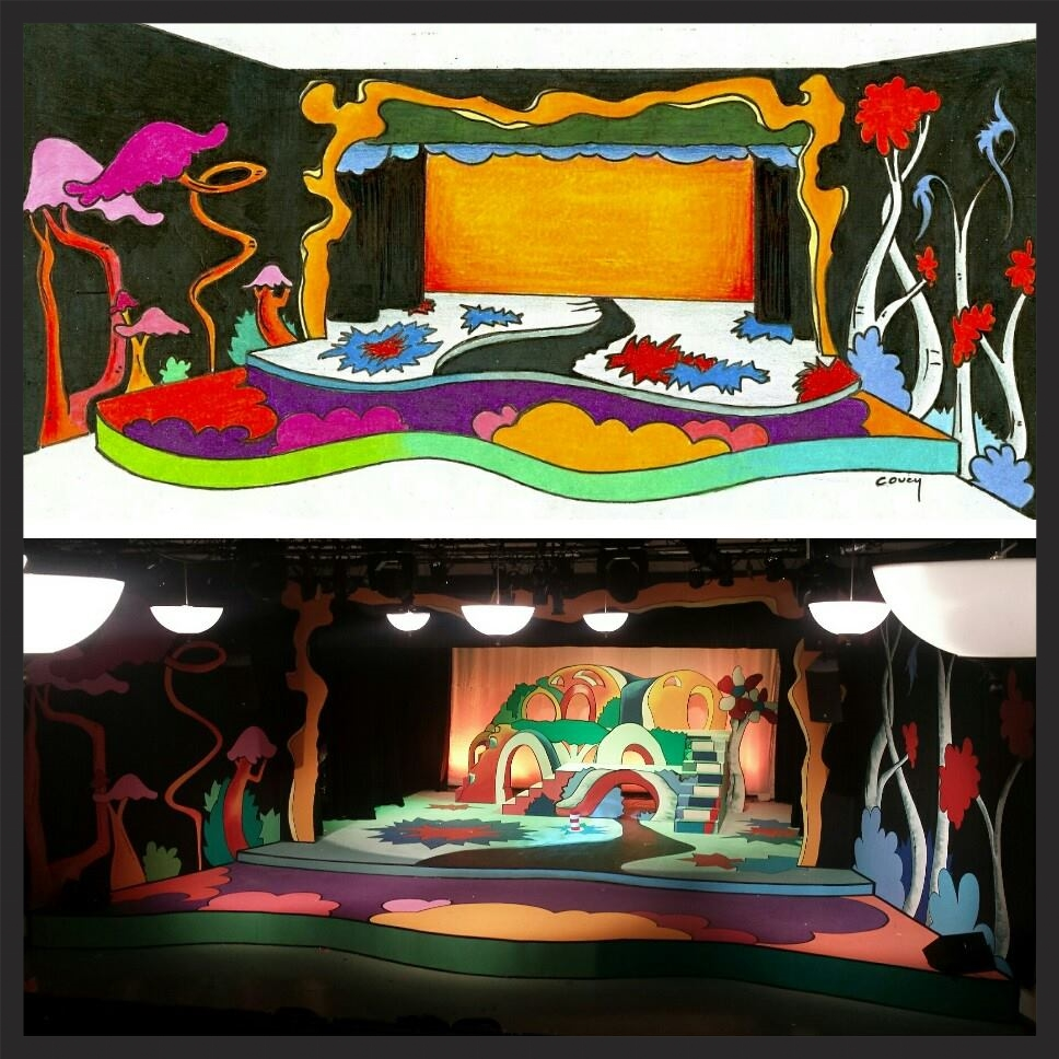 scenic design and painting -Seussical the Musical - The Community House