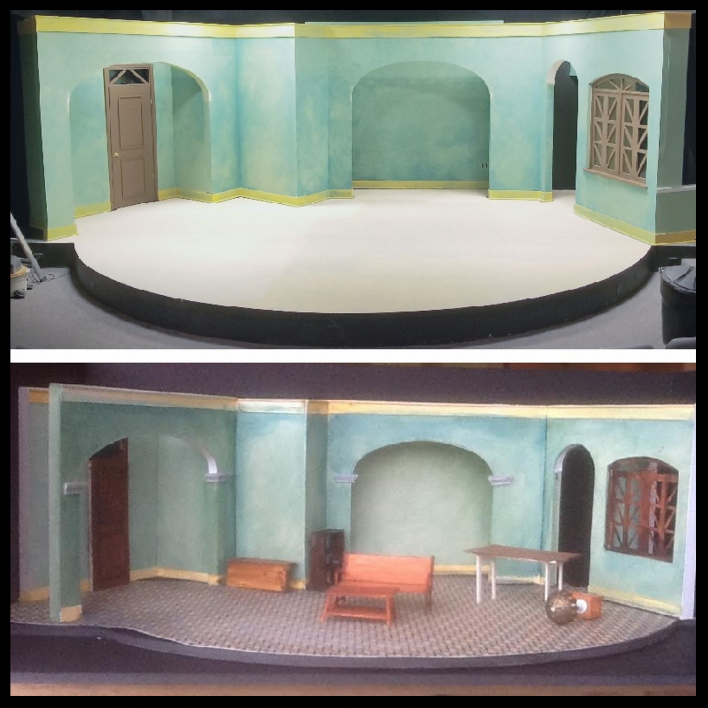 scenic painting - The Madres - Victory Gardens Biograph Theater