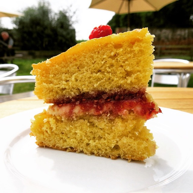Cake cake cake, come & eat cake. #homemade #victoriasponge at the #cafe with homemade #borderberries #jam