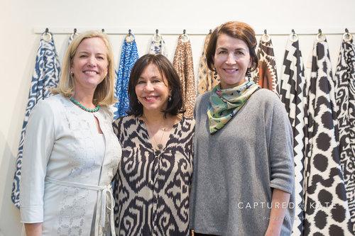 Sarah-Hamlin with Madeline Weinrib and Jessica Derrick of Garden&Gun