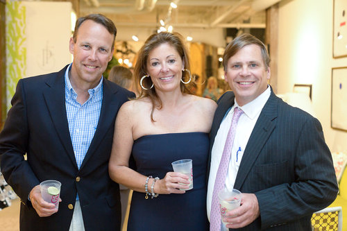 Amanda and guests at her Atelier launch party