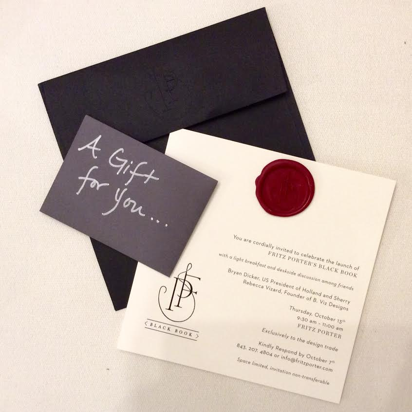 Invitations for our Black Book event