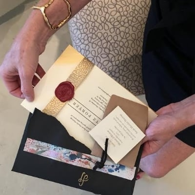 Handmade invitations....