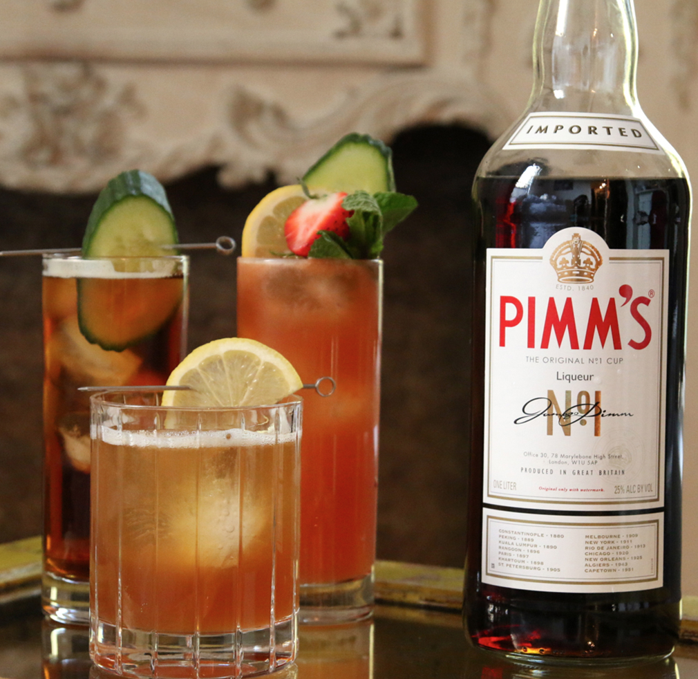 Including the traditional Pimm's Cup cocktail (made from scratch from our very own Carlye Jane  Dougherty...see recipe below)