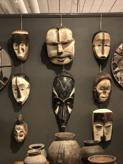 African Masks. Available at Fritz Porter. Large $215. Small & Medium $165.