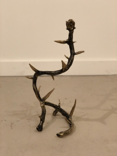 Arete Collection Thorn Bronze Candelabra | $650