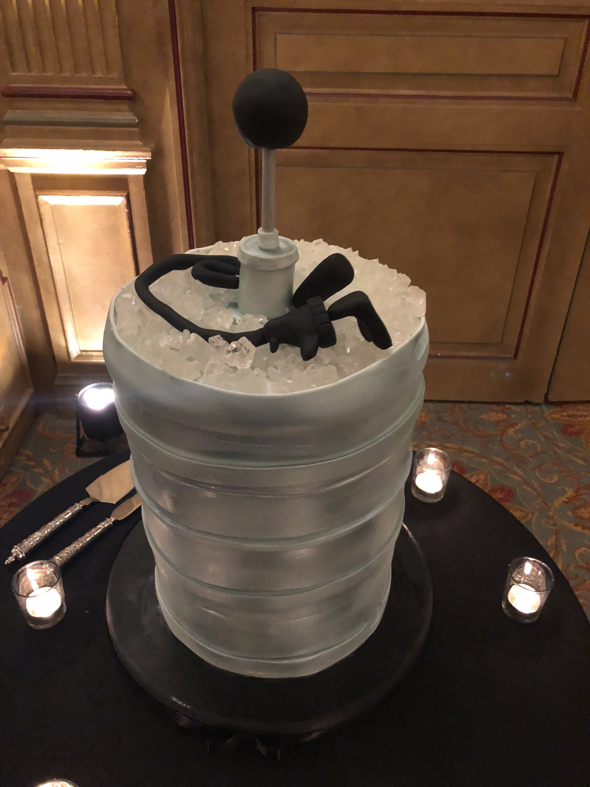 Check out that awesome grooms cake, YES...that keg is a cake!
